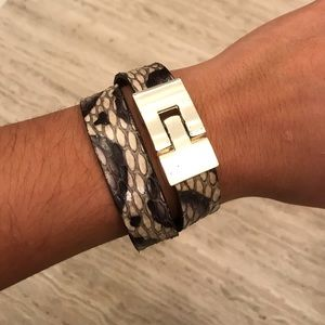 leighelena python double jigsaw bracelet